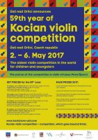 59TH YEAR OF KOCIAN VIOLIN COMPETITION